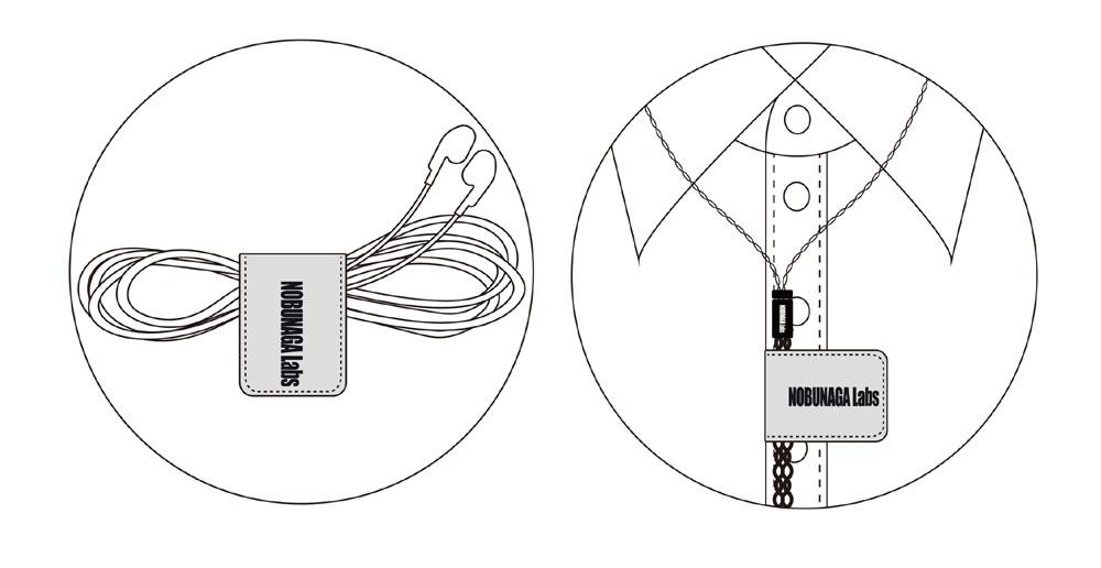 画像: NOBUNAGA Labs、イヤホンケーブルクリップ「静寂」に限定カラバリ、赤、茶、灰を10月25日に発売
