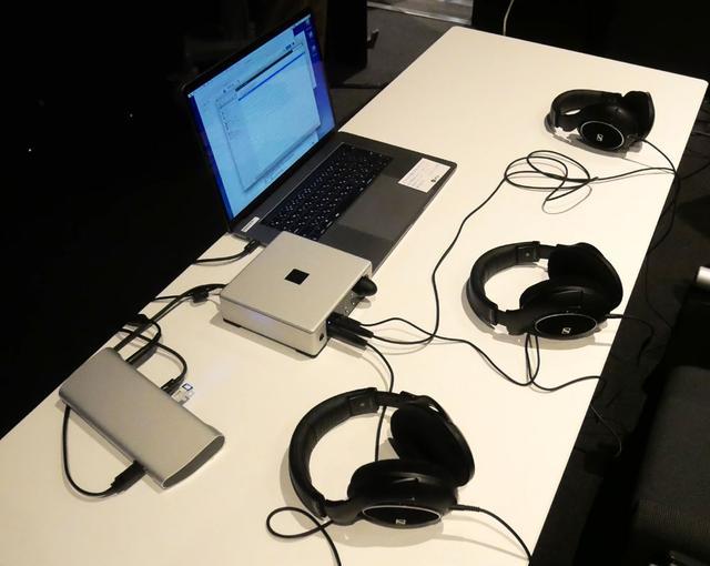 画像: 実際に配信コンテンツを使って、MQA対応機を組み合わせることで、ヘッドホンで3Dオーディオ+ハイレゾ音声を再生(試聴)した
