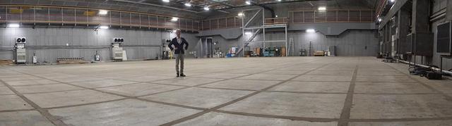画像: 第8ステージの内部をパノラマモードで撮影してみた。このスケール感はなかなか伝わらないかも
