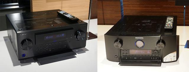 画像: IMAX Enhancedの再生に対応したAVセンターも多く展示されていた。左はパイオニアSC-LX904(参考出品)で、右は既発売のマランツSR8012