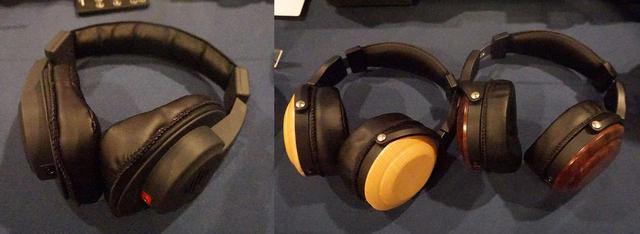 画像: 左は「SW-HP300」で、右はウッドキャビネットの試作品