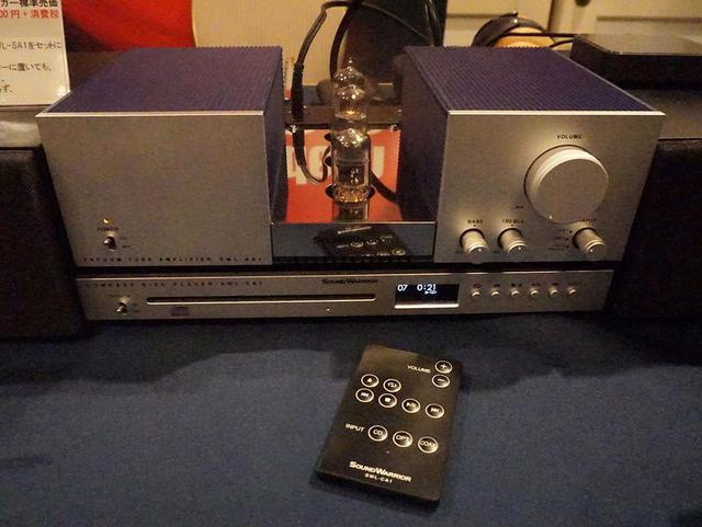 画像: プリメインアンプ「SWL-AA1」の下に置かれているのが、CDプレーヤーの「SWL-CA1」