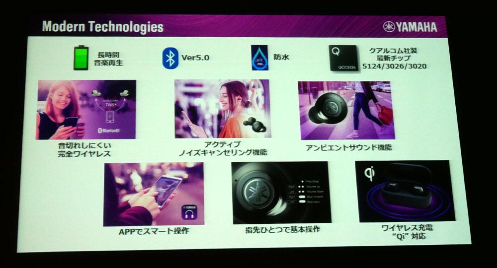 画像2: ヤマハミュージックジャパン、耳に優しくバランスのいいサウンドが楽しめる「リスニングケア」技術搭載の完全ワイヤレスイヤホン「TW-E7A」ほか、全5シリーズを12月より順次発売