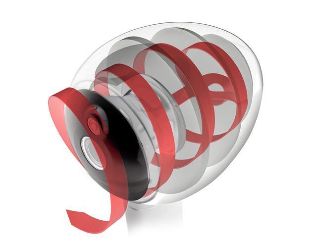 画像: 3Dプリンターで成形されたエンクロージャー内部には、渦巻き状のトランスミッションラインを内蔵する