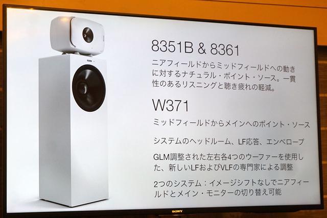画像1: 【インターBEE2019レポート】ジェネレックに「8361A」「8351B」&「W371A」の3モデルが加わった。あたかも大型のポイントソースを聴いているかのようなサウンドを再現する