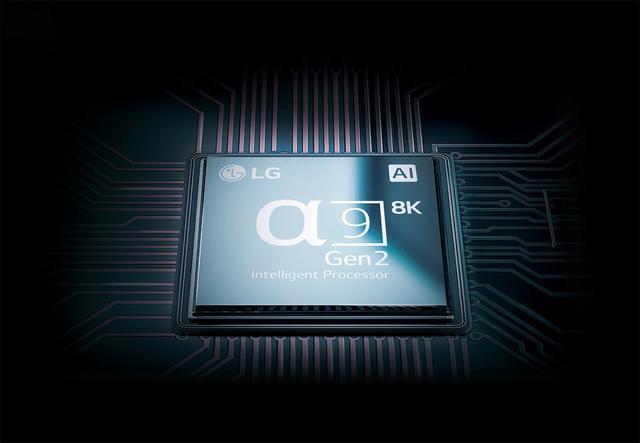 画像: 本機に搭載されたのは「α9 Gen2 Intelligent Processor 8K」。LGの4K有機ELテレビの最新モデルに搭載されたプロセッサーの後段にICを追加した構成となる。そのため、基本的なインターフェイスは既存モデルと同様