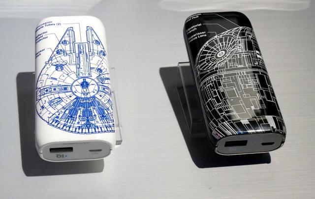 画像: ▲スターウォーズエディションのモバイルバッテリー