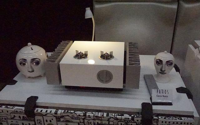 画像: チャリオのスピーカーシステムは、同じくイタリア、パトスのアンプと組み合わせで音を鳴らす予定とのこと