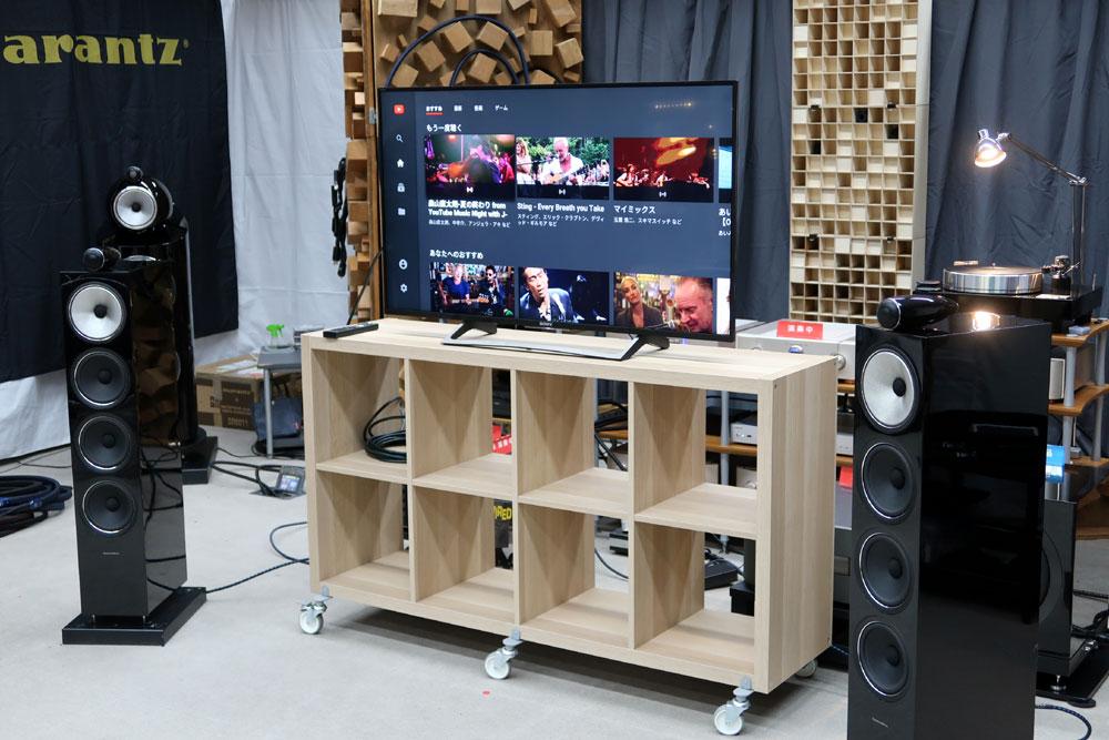 画像: ▲4Kテレビ+NR1200でデモンストレーション