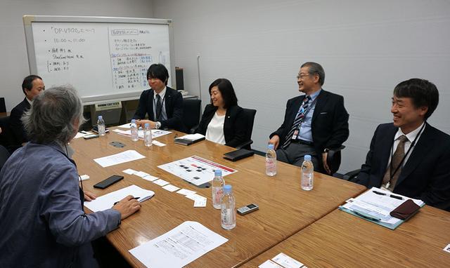 画像: インタビューは、キヤノン本社で行なっている