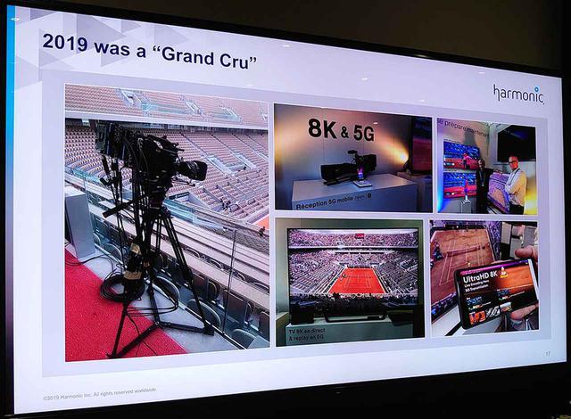 画像: 8K・5G配信の系統を写真で示す