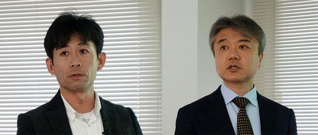 画像: 株式会社ジャパンディスプレイ R&D本部本部の山田一幸氏(左)と奥山健太郎氏(右)