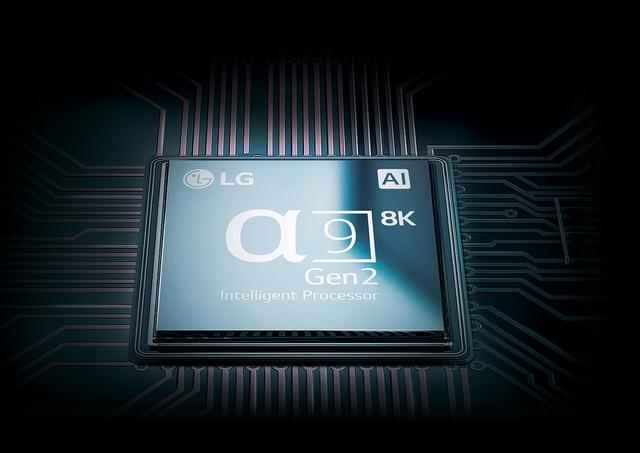 画像: ←本機に搭載されたのは「α9 Gen2 Intelligent Processor 8K」。LGの4K有機ELテレビの最新モデルに搭載されたプロセッサーの後段にICを追加した構成となる。そのため、基本的になインターフェースは既存モデルと同様