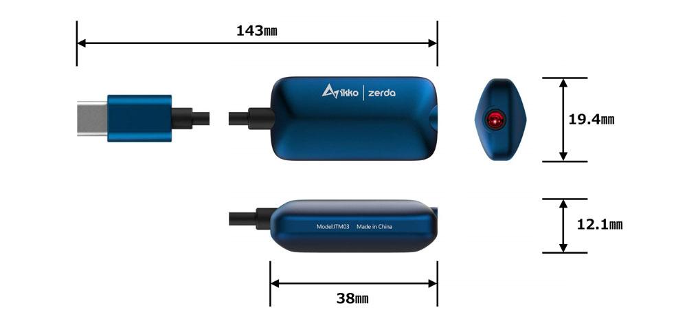 画像: ikkoAudio、スマホに使える小型のポータブルDACアンプ「Zerda」を12月15日に発売。モンスターケーブル監修のケーブルを採用。インターフェイスにはUSB-TypeC、Lightningを用意