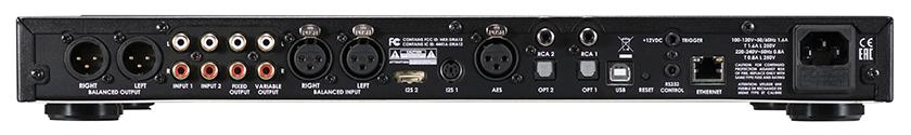 画像: ↑DDP-2の主たる機能はD/Aコンバーターだと言えるが、RCA/XLRアナログ音声入力を備えるプリアンプ機能も搭載する。もちろん、デジタル入力は充実しており、USB DACとしてだけでなく、ネットワークオーディプレーヤーとしても利用できる