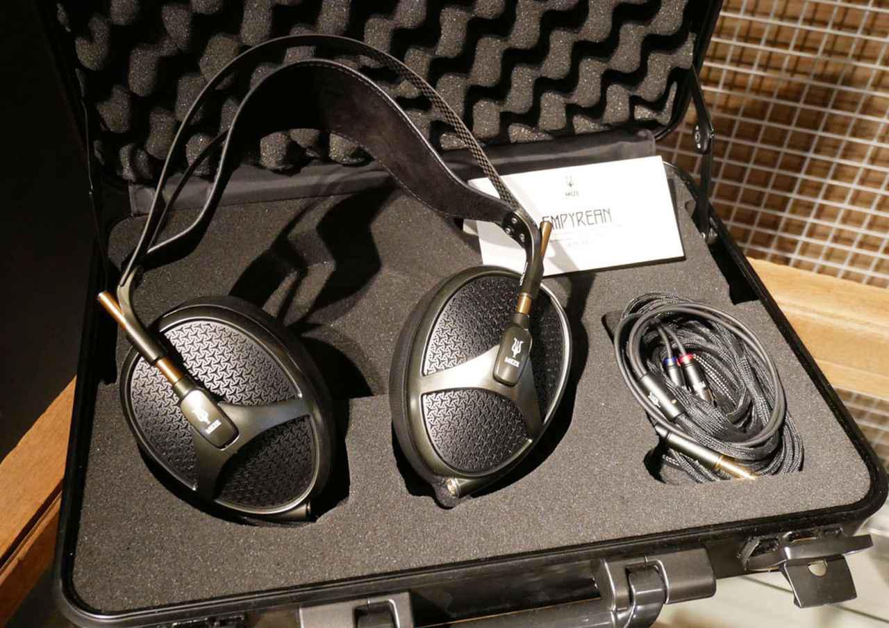 画像: ▲MEZE AUDIOの平面磁界ヘッドホン「EMPYREAN」