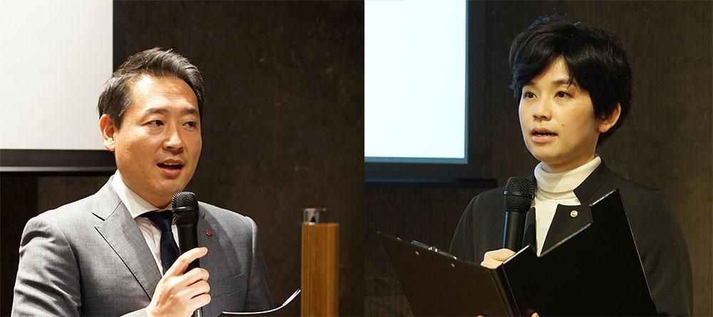画像: LGエレクトロニクス・ジャパン(株)マーケティングチーム チーム長の金 東建氏(左)と、同マーケティングチームの芦野純子さん(右)