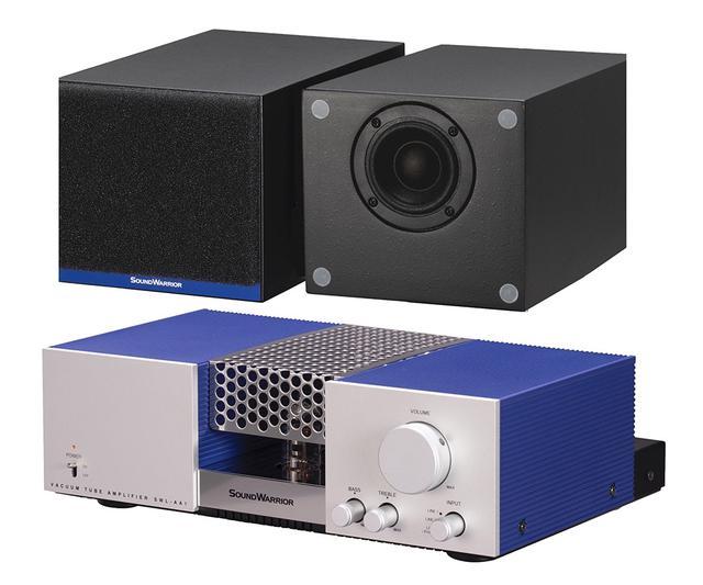 画像: オーディオシステム「SWL-A1SET2」は、真空管アンプ「SWL-AA1」(写真下)とスピーカー「SWL-SA1」(写真上)と「SWL-CA1」がセットになっている
