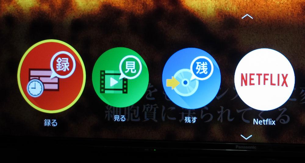 画像: 簡単メニューで表示されるアイコン。希望の操作のアイコンをクリックすると操作が実行できる