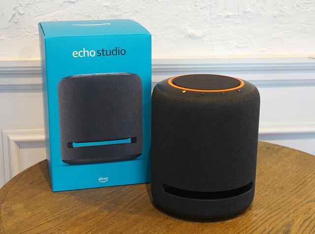 画像: 12月5日に発売された「Echo Studio」。Amazon Music HDのハイレゾ音源に加え、ドルビーアトモスや360Reality Audioのイマーシブ音源も再生できる