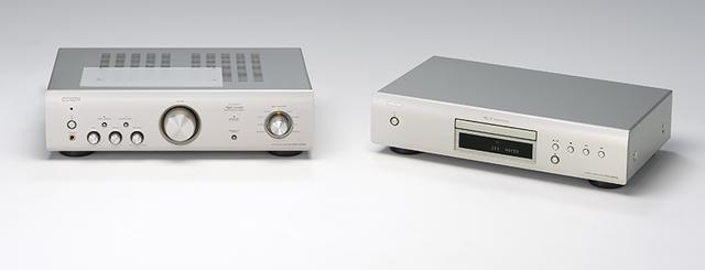 画像: DENON PMA-600NE(写真:左) ¥52,000+税 ●定格出力:45W×2(8Ω)、70W×2(4Ω) ●出力端子:アナログ音声入力4系統(RCA)、デジタル音声入力2系統(同軸、光)、フォノ1系統(MM)、 ヘッドホン出力1系統(6.3mm) 他 ●備考:Bluetooth対応 ●寸法/質量:W434×H122×D307mm/7.4kg DCD-600NE(写真:右) ¥47,000+税 ●再生可能メディア:CD ●接続端子:アナログ音声出力1系統(RCA)、デジタル音声出力1系統(光) 他 ●寸法/質量:W434×H107×D275mm/4.3kg