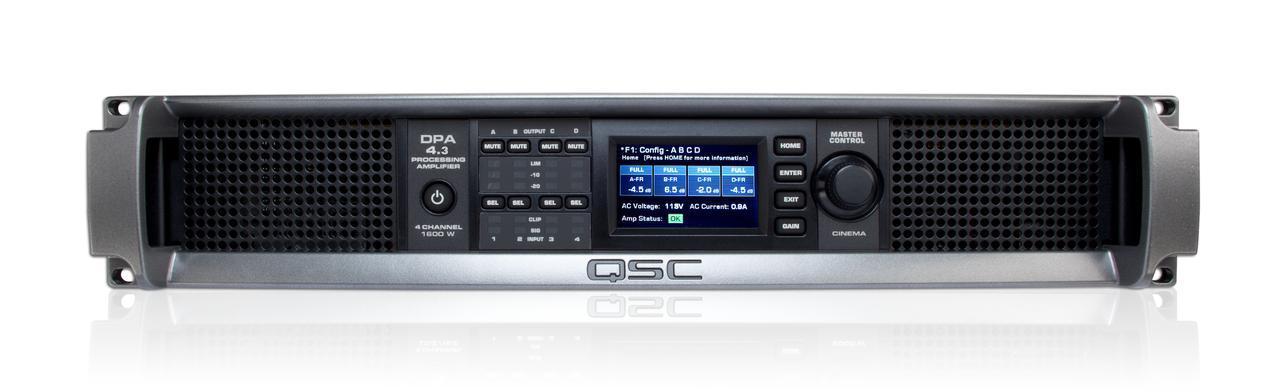 画像: デジタルプロセッシングアンプのQSC「DPA4.3」はフロントL/C/Rスピーカー、サブウーファーおよびサラウンドスピーカーを駆動する