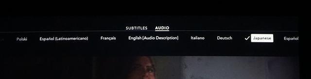 画像: 「Disney+」には吹き替え音声も多数準備されており、日本語5.1chも選択できた