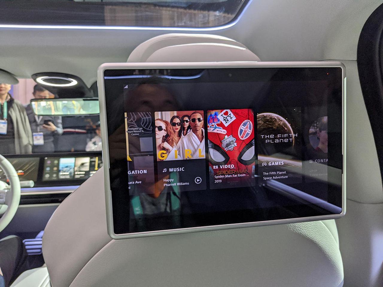 画像4: 【麻倉怜士のCES2020レポート02】これが超話題のソニーのニューカー「VISION-S(ビジョン エス)」だ。その、ディテイルをご覧にいれます