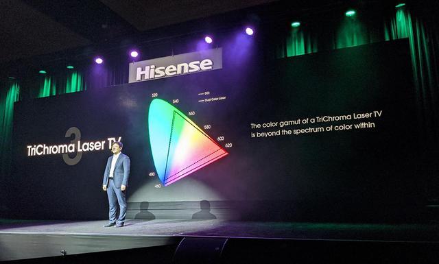画像: 「TriChroma Laserの色域は広い」