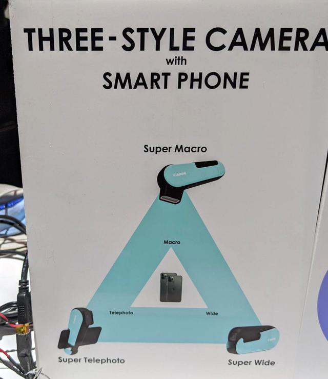 画像: 「スリー・スタイル・カメラ」の説明。レンズを組み合わせるカメラだ