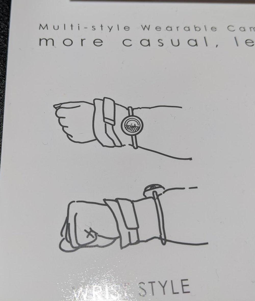 画像: 腕時計のように手に付ける