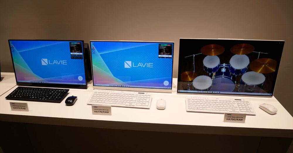 画像: デスクトップの27型モデルは、画面から音の出てくる「Crystal Sound Display」仕様