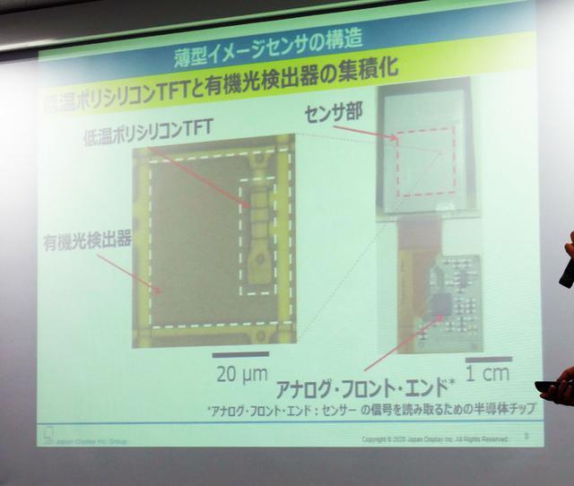 画像2: ジャパンディスプレイ、東大と共同で、薄型・フレキシブルな生体認証用センサーを開発。高速・高解像度での読み出しを実現。3年後の実用化を目指す