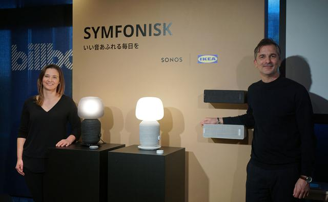 画像: IKEA of Sweden,IKEA Home Smart,Product Design Developerのステーバン・ベーギチさん(右)と、Sonos Senior Product Manegerのサラ・モリスさん(左)
