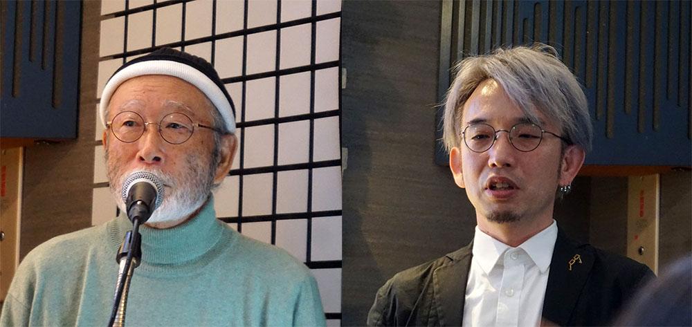画像: UNAMAS Labelの代表Mick Sawaguchi氏と、音楽家・作曲家の江夏正晃氏