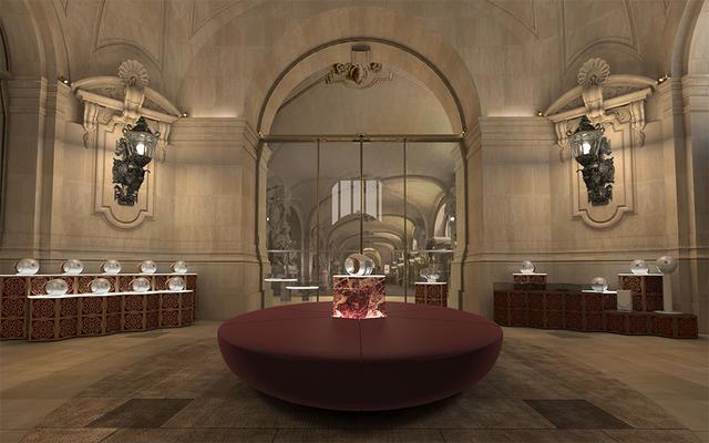 画像: オペラ座 ガルニエ宮の玄関ホール西側にデビアレの音楽体感ができる80平方メートルの広さの空間が誕生。16台のゴールドファントムスピーカーよるオーケストラ演奏を聴けるのもポイントという