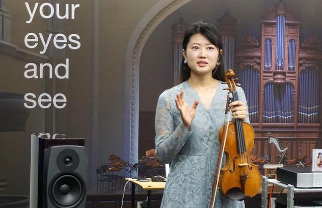 画像: 和田さんのイベントに先立って、ヴァイオリニストの窪田真佑子さんによる生演奏とCDの試聴も行なわれた
