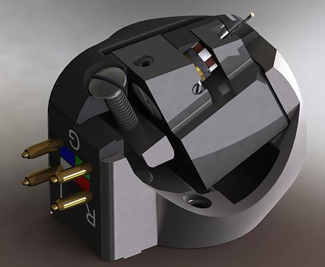画像: 空芯タイプのコイルでありながら、強力な磁気回路と組み合わせることで0.2mVの出力電圧を実現している。