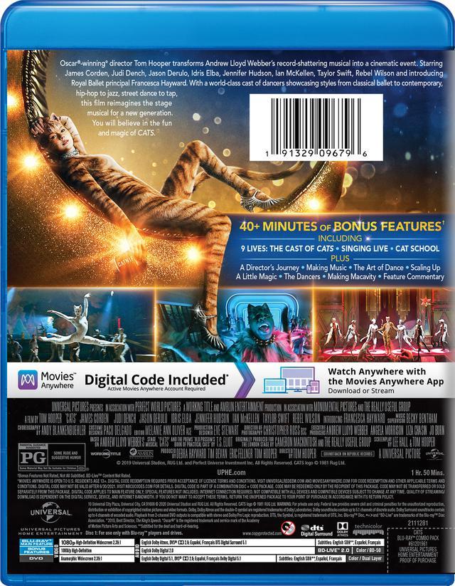 画像2: 名作ミュージカルを映画化『キャッツ』【海外盤Blu-ray発売情報】