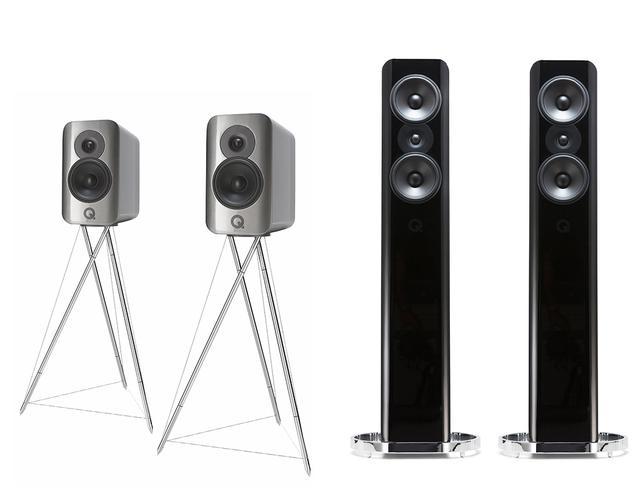画像: Speaker System  Q Acoustics   Concept 300(左)、Concept 500(右)