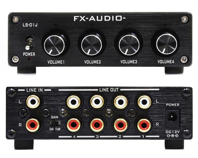 画像: FX-AUDIOの4chラインスプリッター機能付きプリアンプ「LS-01J」。アンプやシステムの聴き比べなど、アイデア次第で活躍するアイテムだ
