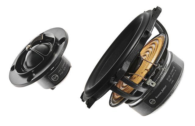 画像: 28mmシルクドーム型トゥイーター(左)と150mmウーファー(右)