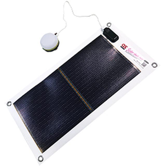 画像: 充電式LEDランタン・5Wモバイルソーラーシートセット GSB-0500-DC|クリーンエネルギー|製品情報|オーエス