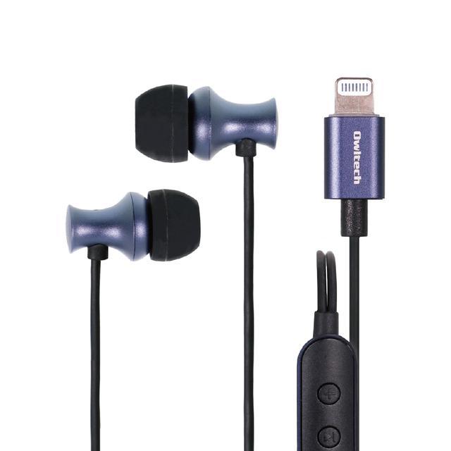画像: Lightningコネクタから音楽を聴けるイヤホン リモコン+マイク付き | 株式会社オウルテック