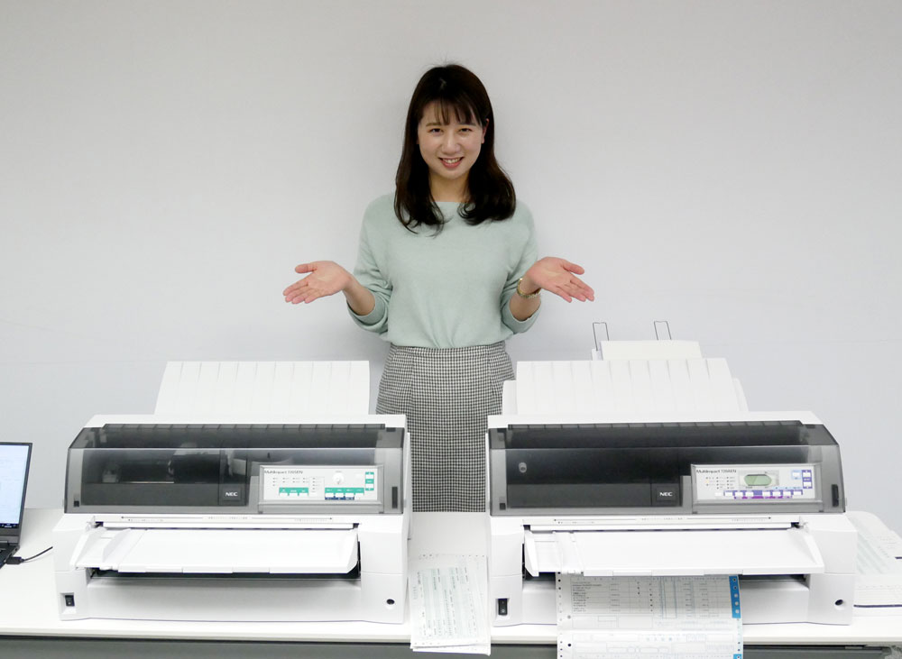 画像2: NEC、複写伝票への印字が高速で行なえるドットインパクトプリンター「MultiImpact 720AEN」ほか全3モデルを、4月13日に発売