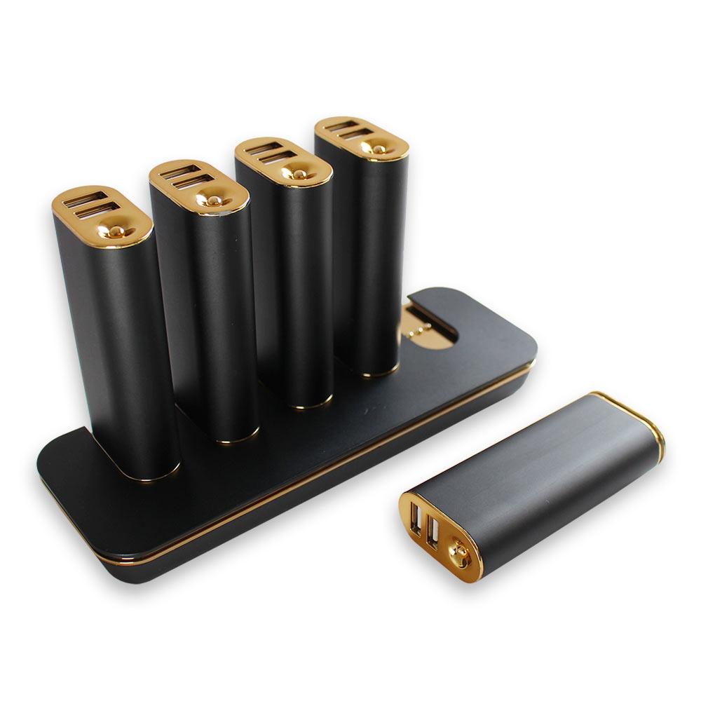 画像: ステーション型モバイルバッテリー 5000mAh × 5個 + 充電ACフルセット OWL-LPB50SET   株式会社オウルテック