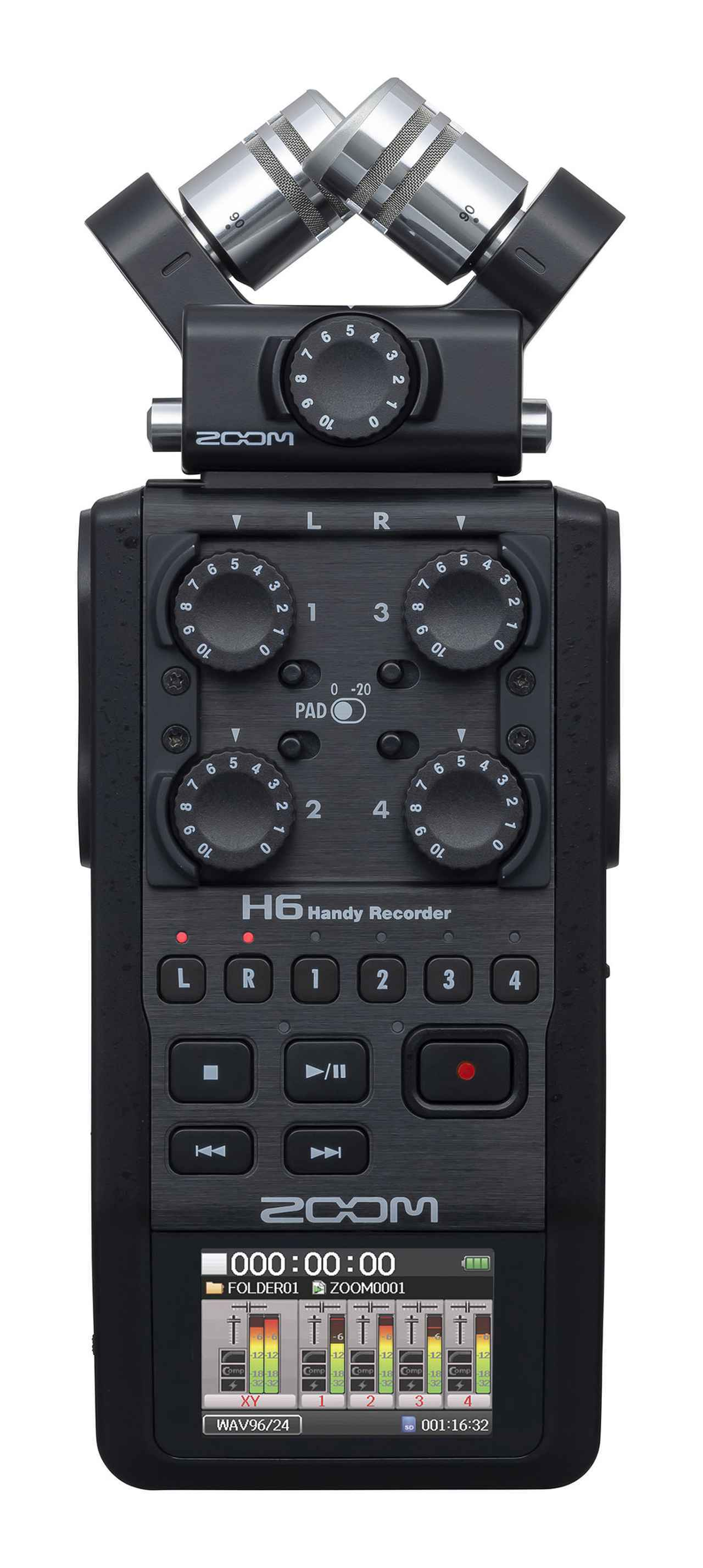 画像: ZOOM、人気のポータブルPCMレコーダー「H6」にブラック・エディション「H6/BLK」が登場