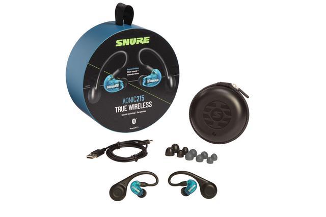 画像: Shure、完全ワイヤレスイヤホン「AONIC 215」を4月3日に発売。耳掛けデザインで、最大8時間の再生が可能。価格は30,000円前後