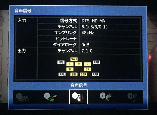 画像: 音声はDTS-HD MAの6.1ch(劇場公開時のドルビーサラウンドEXと同じ構成と思われる)だった