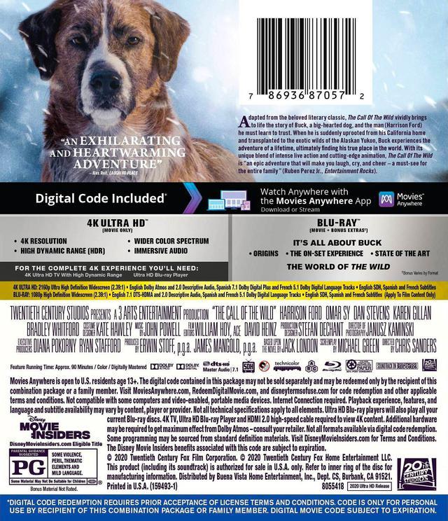 画像2: 名作冒険小説を実写映画化『野性の呼び声』【海外盤Blu-ray発売情報】